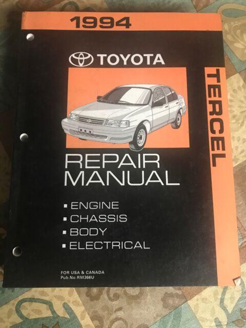 Toyota Tercel Electrical Wiring Diagram 1994 Model ...