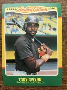 Details About 1986 Fleer Limited Edition Baseball Card 22 Tony Gwynn San Diego Padres Mint