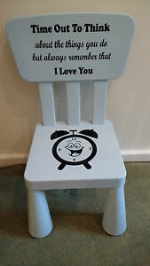 Time Out Chair Decal Only Naughty Chair Girl Boy Kids Ebay