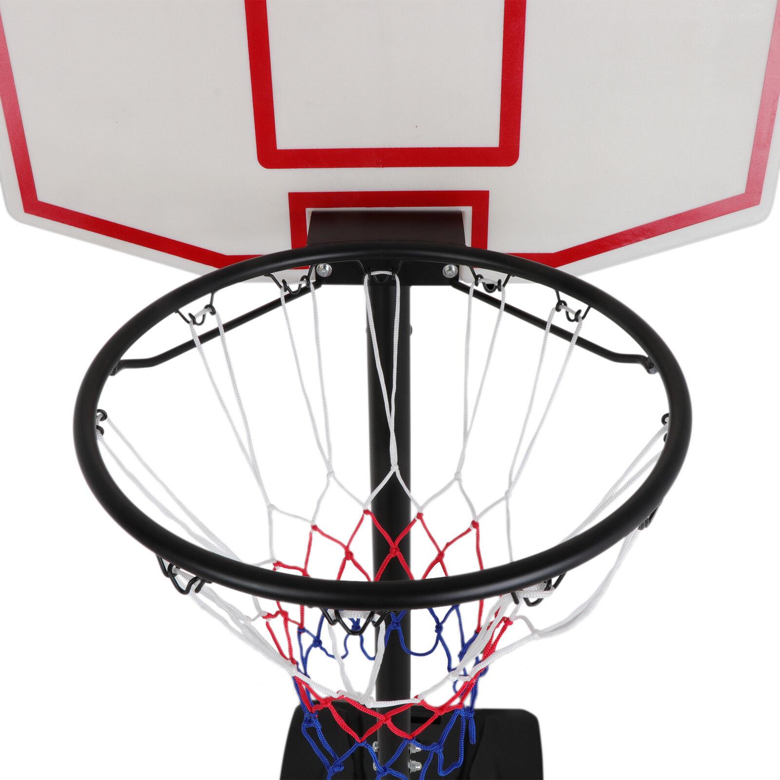 Image 21 - Pro-7ft-Basketball-Hoop-Adjustable-Height-Portable-Backboard-System-Junior-Kid