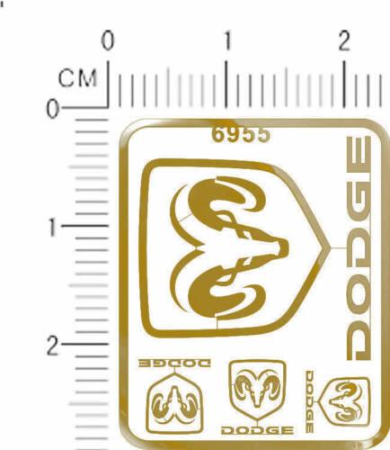 6955 metal decals DODGE for model kits chrome Golden