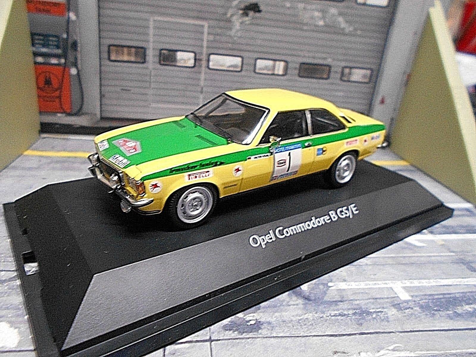 Opel Commodore B GSE GS E RALLYE Nordland DRM  1 Röhrl 1973 SCALA 43 SCHUCO 1 43