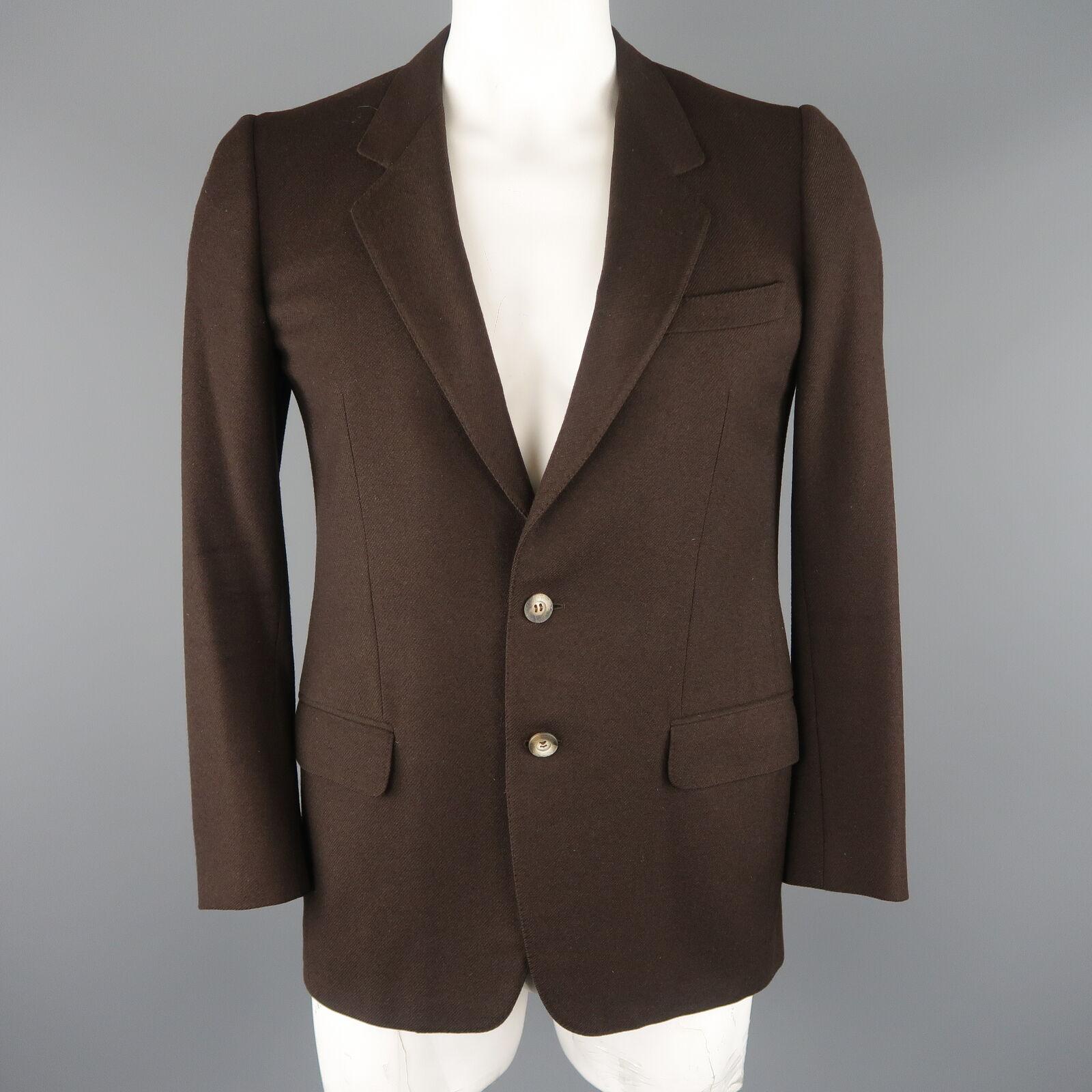 ERMENEGILDO ZEGNA 40 Regular Brown Wool   Cashmere Sport Coat