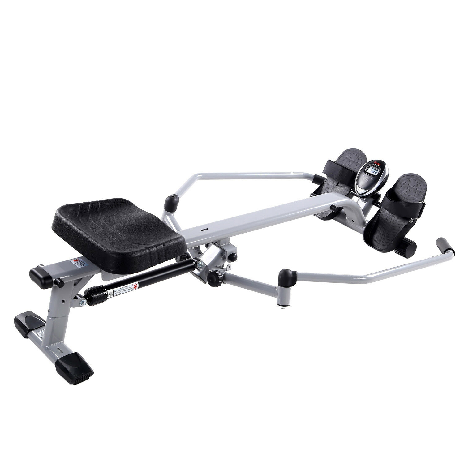 Sunny Health and Fitness Full Motion Rowing Machine Rower with 350lb Capacity an 7