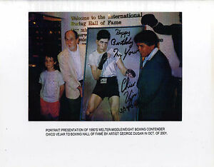 CHICO VEJAR BOXING GREAT BOXING SIGNED AUTOGRAPHED 8 x 10 PHOTO WITH COA