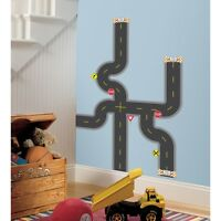 Build A Road Wall Decals Boys Vehicle Themed Stickers Baby Nursery Decor