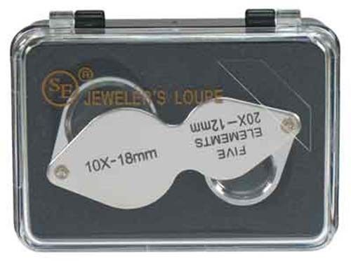 Dual Power Chrome 10x 20x Jewelers Eye Loupe Magnifier Magnifying Glass