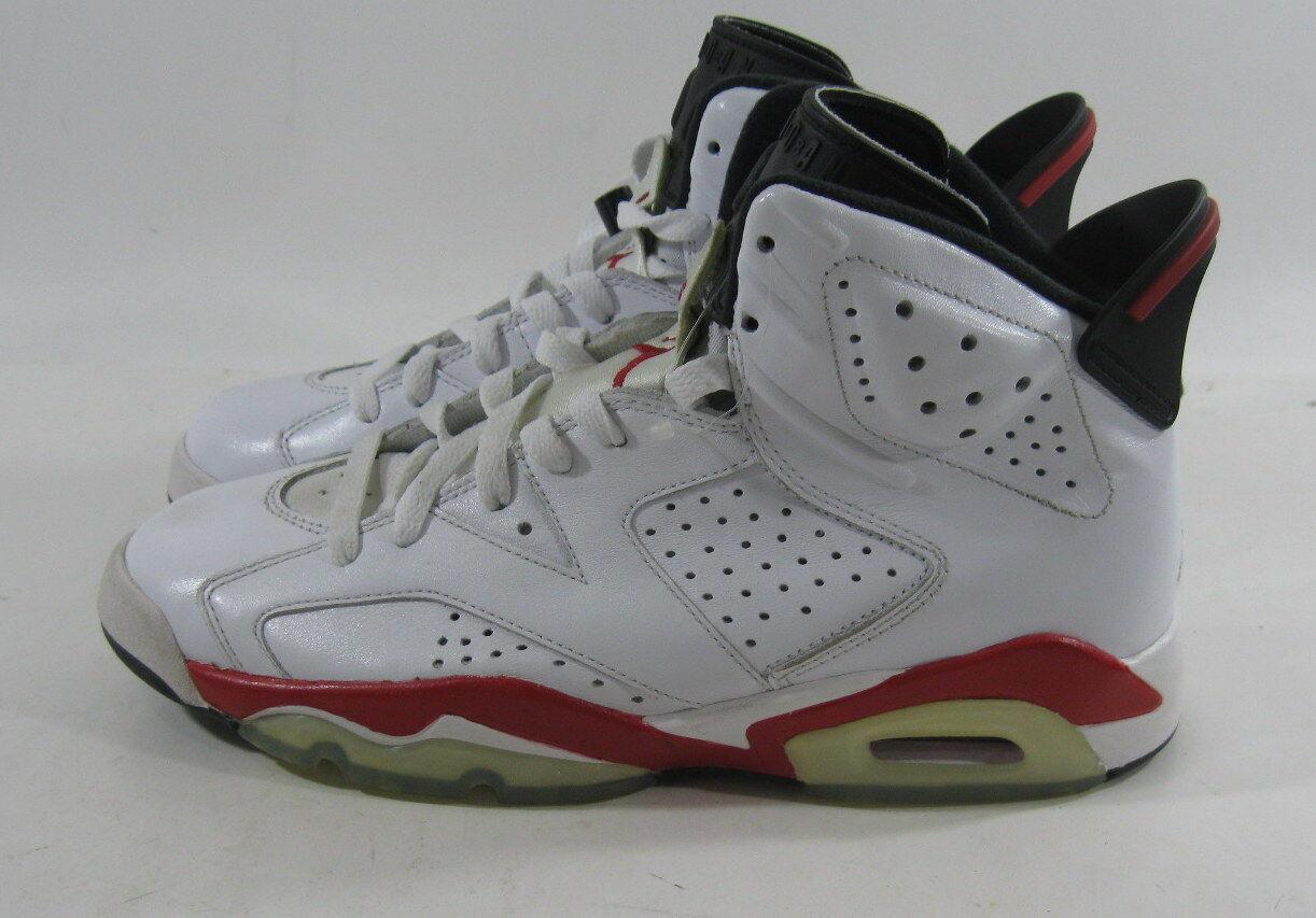 Air Jordan 6 6 6 Retro  Bulls 384664 102 Year 2010 bianca Varsity rosso-nero Dimensione 7.5 fd07a6