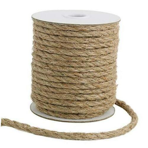 Cat Scratch Post, Natural Heavy Duty Twine for Crafts 66 Feet 6mm Jute Rope