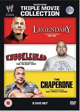 WWE Movie Triple Bill - Legendary + Knucklehead + The Chaperone 3er [DVD] NEU