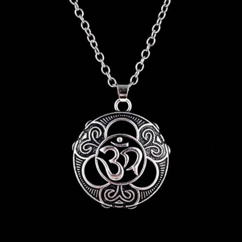 Yoga Sanskrit Aum Ohm Om Necklace Pure Spirit Sign Buddha Pendant Hinduism Good