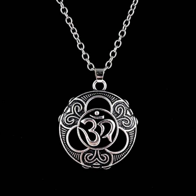 Sanskrit Aum Ohm Om Necklace Pure Sign Buddha Pendant Hinduism Good UK