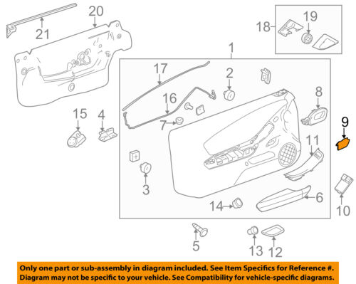 Chevrolet GM OEM 10-15 Camaro Door-Handle Inside Cover Right 20997412