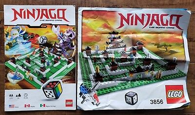 Ninjago Game Build Instructions and Rules 3856 Lego Instructions NOT GAME