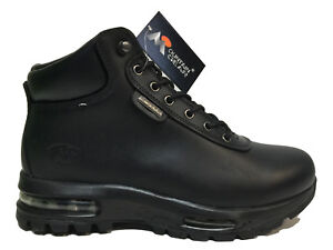 Men-039-s-Brand-New-Mountain-Gear-Hiking-Black-Leather-Everyday-Boots-317015-01A