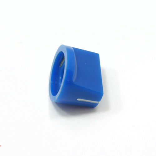 Plastic 14mm Knob Volume Rotary Switch 6mm Potentiometer Sound Blue Cap Control