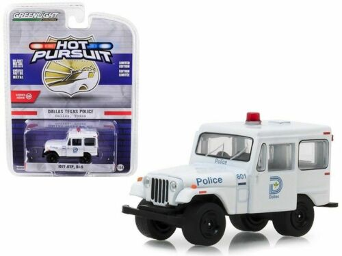 1977 Jeep DJ-5  POLICE  Dalles Texas  *** Greenlight 1:64 OVP **SALE**