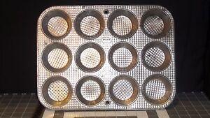 Details about Vintage Ecko Ovenex X120 12 Muffin Cupcake Tin Metal Pan  Waffle Pattern (3811)