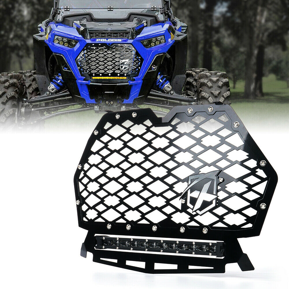Steel Grille for RIDE COMMAND Polaris RZR 1000 XP 2017 LED LIGHT BAR Red Grill