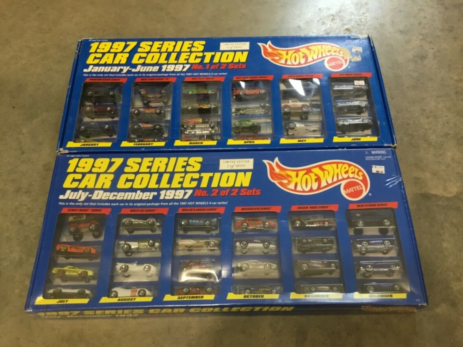 Hot Wheels Ltd Ed 1997 Series Car Collection 1 & 2  sets, FREE shipping