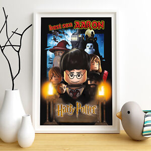 HARRY POTTER Lego Personalised Poster A5 Print Wall Art Custom Name ✔