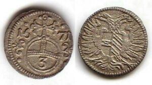 (32,27) Oppeln, Schlesien, 3 Pfennig 1671 Auswahlmaterialien