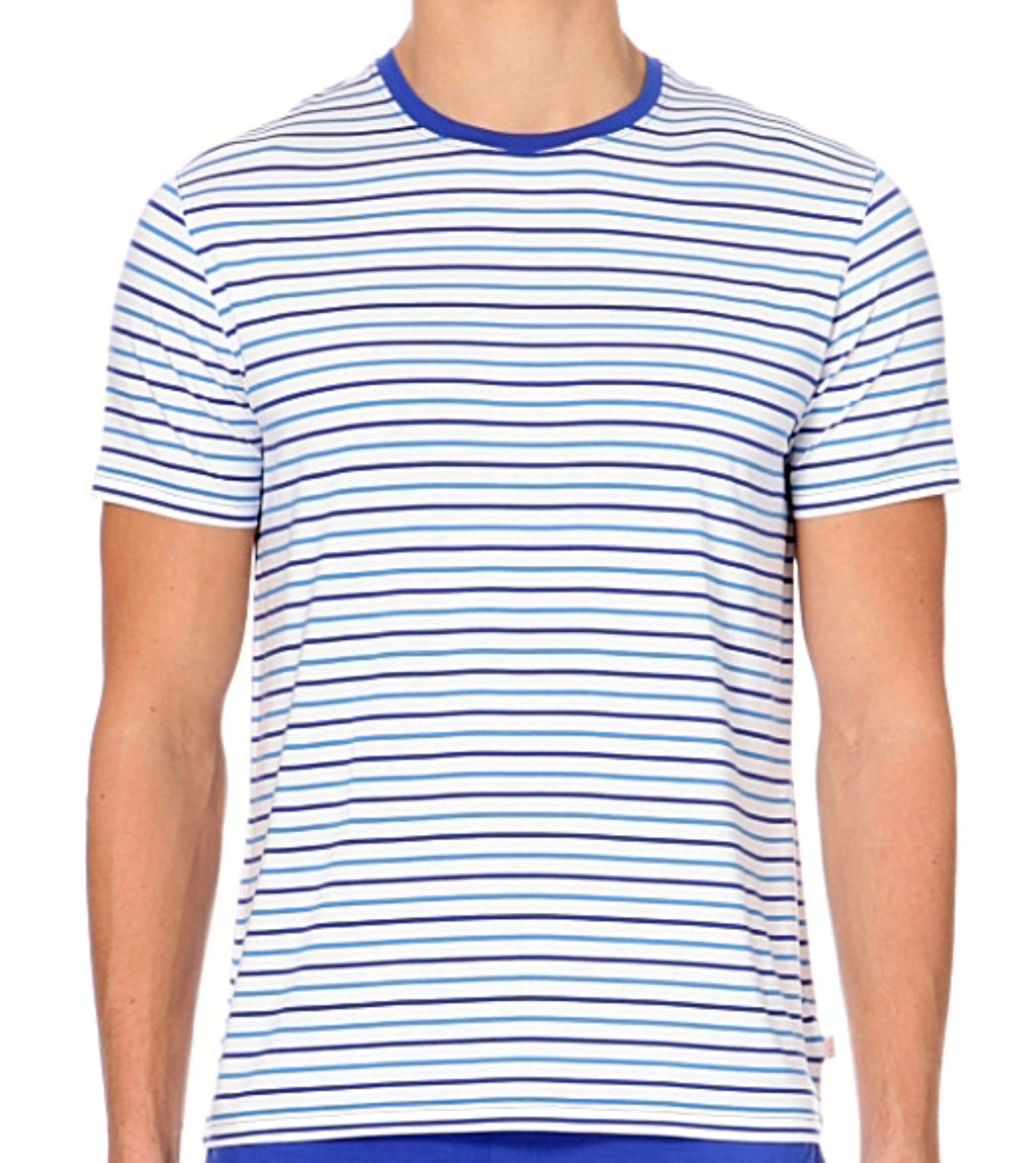Derek Rose T-Shirt Alfie  MicroModal  Blau  M ,