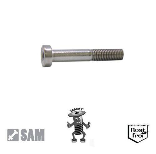 Zylinderkopfschrauben niedriger Kopf DIN 7984 A2 Edelstahl V2A M6X8 bis M6X70