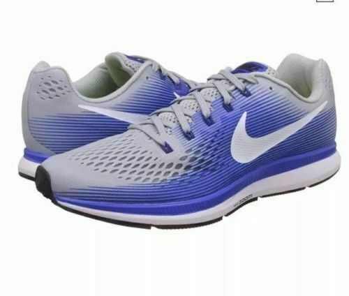 0cfbee66920c Nike Air Zoom Pegasus 34 Men s Sz 11.5 Wide Gray   Blue Running Shoes for  sale online