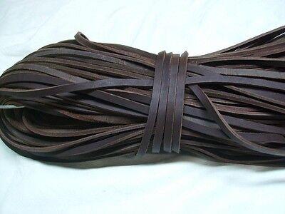 Lederriemen Endlos,Fettleder Meterware - braun / 8mm breit,Leder,Endlosriemen