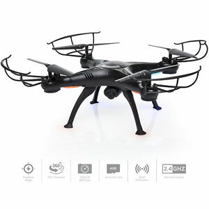 BCP-4-Channel-2-4G-6-Axis-Gyro-RC-Headless-Quadcopter-Drone-w-Wifi-Camera-Black