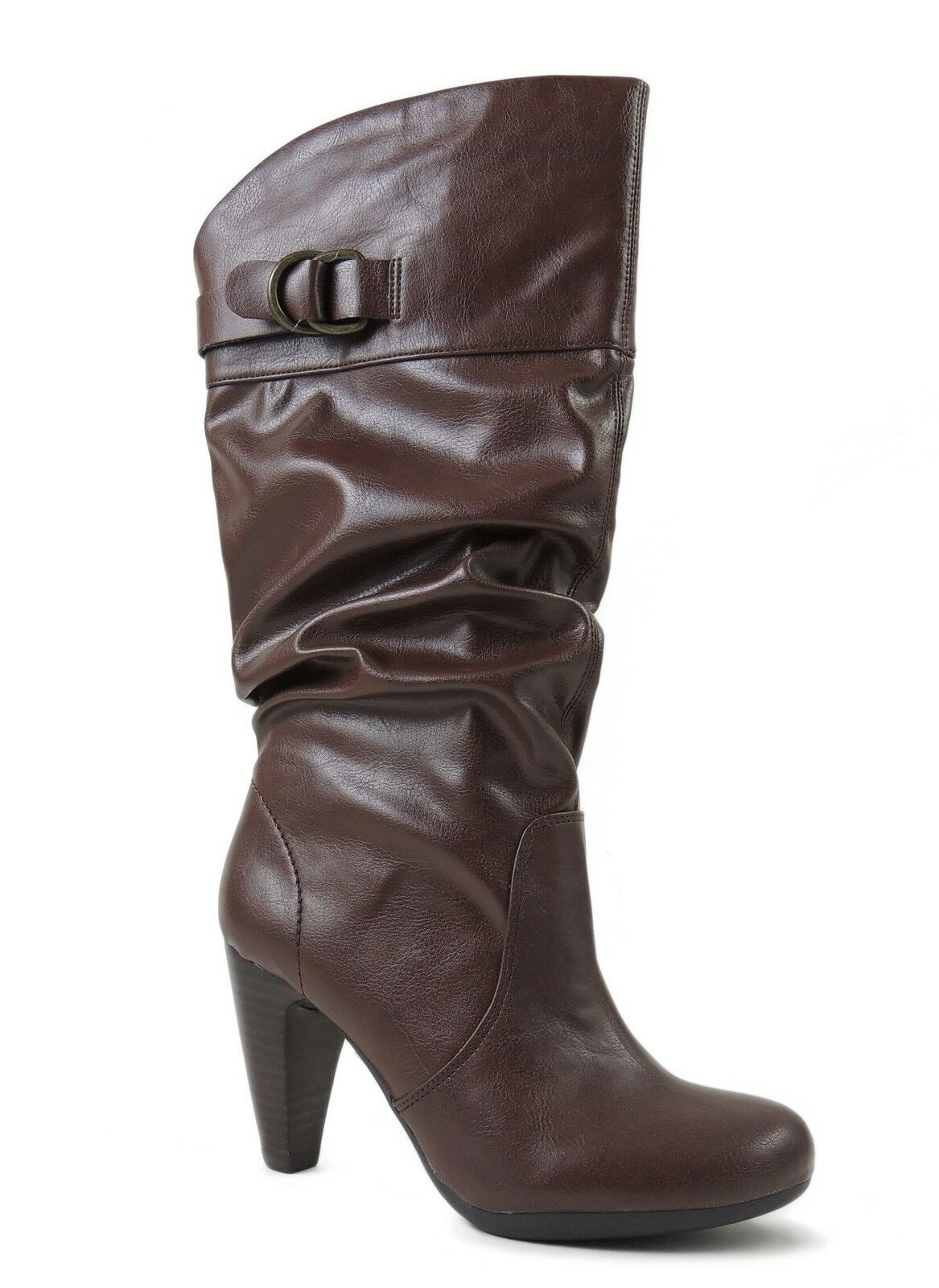 Marc Fisher Women's Signa2 Mid Calf Boot Brown Size 5 M