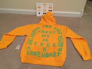 buy online 61e2d 96aea Details about Kanye west True and Legendary Hoodie Gold Philadelphia Life  of Pablo