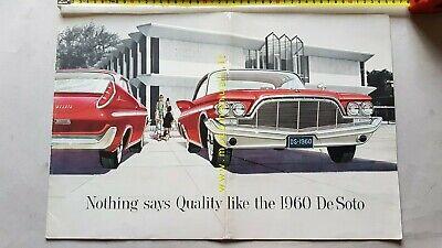 Gewetensvol Desoto Produzione Modelli 1960 Depliant Originale Usa Auto Genuine Brochure