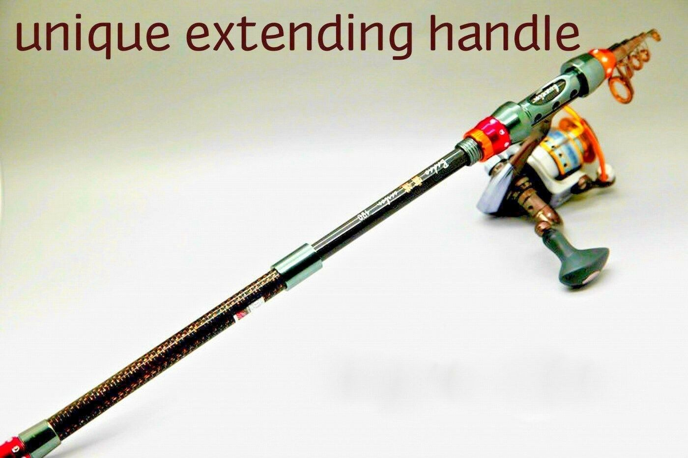 BADEO 2.1M Telescopic Rod & Reel   ideal for  travel, holidays   great xmas gift  we take customers as our god