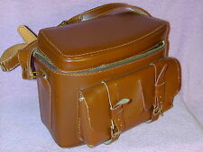 Leather Camera Case/Bag, Vintage Coast Caravelle Top Grain Cowhide MADE IN USA