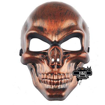 Retro Copper Full-face Skull Soldier Warrior Halloween Mask Party Costume Dress