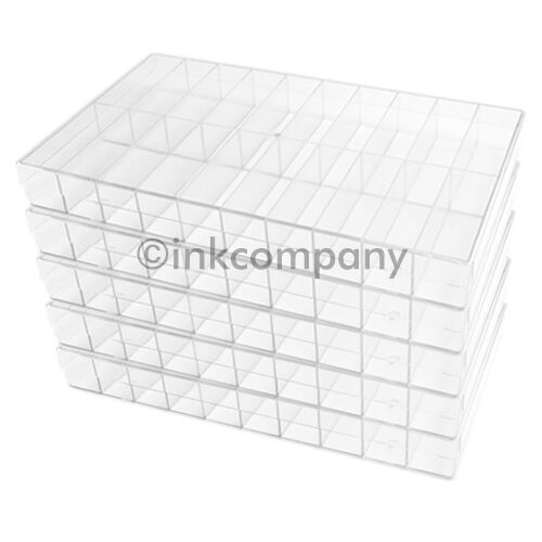 5 x 20er Sorting Box Sorting Boxes Assortment Box Transparent New