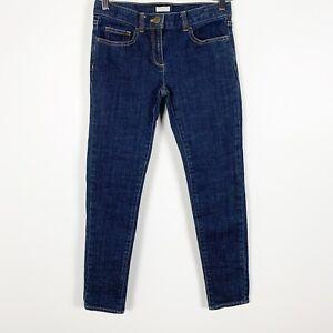 Crewcuts-J-Crew-Toothpick-Skinny-Girls-Skinny-Blue-Denim-Jeans-Dark-Wash-Sz-12