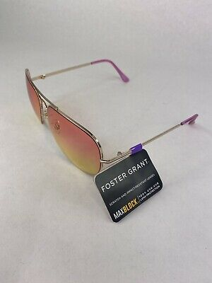 Foster Grant Aviator Pink Sunglasses 10219582.PFJ NEW Free Ship