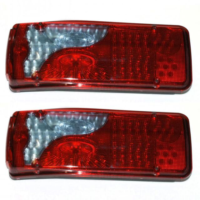4X 24V SIDE REAR LED MARKER LIGHTS LAMPS INDICATOR TRUCK SCANIA IVECO DAF MAN