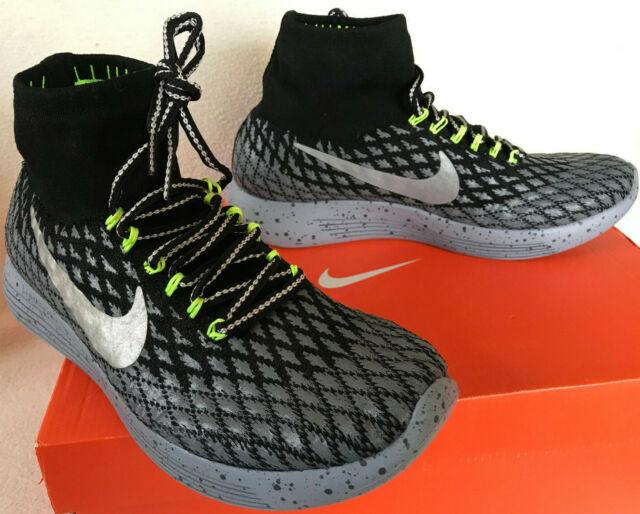 Nike LunarEpic Flyknit Shield 849665 001 Repel Cushion Running Shoes Women's 7.5