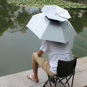 Fishing and Camping Rainbow Pride. Umbrella Hat Suitable Golf Waterproof