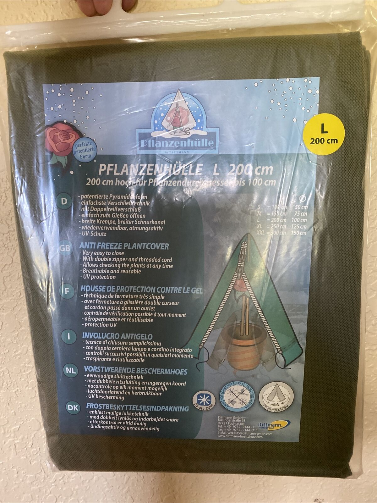 """Shrub Cover Plant Protector 78"""" X 39"""" NIP"""