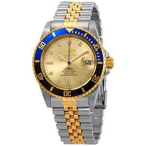 Invicta Pro Diver Automatic Gold Dial Batman Bezel Men's Watch 29181