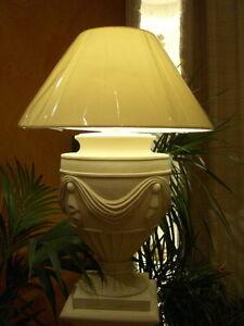 Antike-Tischlampe-Pokallampe-Nachtisch-Kamin-Lampe-Wohnzimmerlampe-Buerolampe