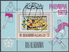Ras al Khaima 1970 used Bl.V95 A Philympia 1970 Football Fußball Brasilien