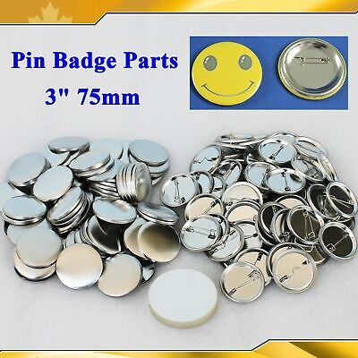 100 Sets Blank Button Parts Supplies for Badge Maker Machine DIY Art Crafts Gift
