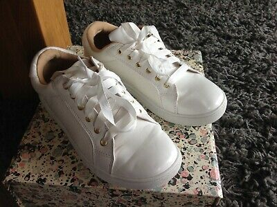 Oasis white trainers..size 3   eBay