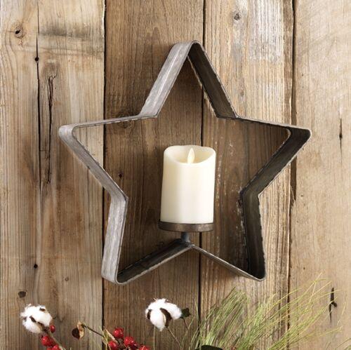 "RAZ Imports~14/"" Farmhouse Galvanized Metal Star Candle Holder~Tree//Wreath//Stands"